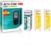 ACCU-CHEK Active Kit With 50 Strips, 2 Boxes of Softclix 25 Lancets Health Care Appliance Combo