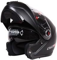 LS2 FF386 - Matt Black Motorbike Helmet(Black)