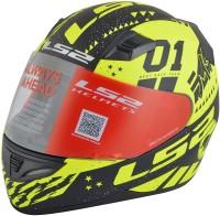 LS2 Tokyo Motorbike Helmet(Black, Yellow)