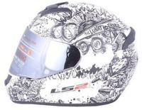 LS2 FF352-L Motorbike Helmet(White)