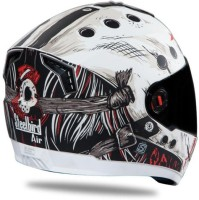Steelbird AIR SBA-1 Dunkin Motorbike Helmet(SBA-1 Dunkin Matt White & Red With Smoke Visor Large-600MM)