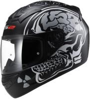 LS2 FF352-L Rookie X-Ray Motorbike Helmet(Matt Black Grey)