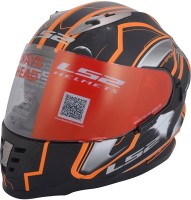 LS2 Space Motorbike Helmet(Black, Orange)