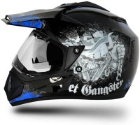 VEGA Off Road D/V Gangster Motorbike Helmet(Black Blue)