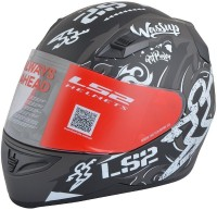 LS2 Olympic Motorbike Helmet(White, Black)