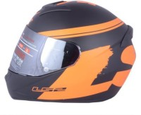 LS2 Bulky Motorbike Helmet(Black, Orange)