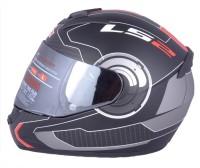 LS2 Atmos Black Red With Mercury Visor Motorbike Helmet(Red, Black)