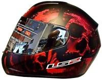 LS2 Hidden Matte Motorbike Helmet(Black, Red)