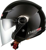 LS2 Deattachable Openface 569 Motorbike Helmet(Black)