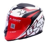 LS2 Superstar Motorsports Helmet(Red)