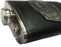 Pia International ANTIQUE LOGO Stainless Steel Hip Flask(266 ml)