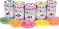 Serenus Homes Go Natural 100% Herbal Holi Gulal Can Holi Color Powder Pack of 5(Yellow, Orange, Green, Purple, Pink, 500 g)