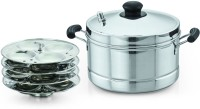 Sowbaghya Ultima Base Stainless Steel Idly Cooker Induction & Standard Idli Maker(4 Plates )