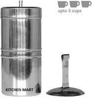 Kitchen Mart South Indian Style 3 Cups Indian Coffee Filter(250 ml)