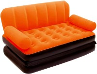 Best Way Velvet 5 in 1 Air VKI5473 Inflatable Sofa(Orange)
