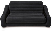 View Intex Velvet 4 Seater Inflatable Sofa(Color - black) Price Online(Intex)