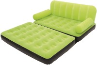 View WDS 5 In 1 Air Bed Velvet Mattress Lounge Seat Couch Carbed With Electric Pump PP 3 Seater Inflatable Sofa(Color - Green) Price Online(WDS)