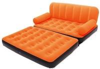 View Sai PVC 3 Seater Inflatable Sofa(Color - Orange) Price Online(Sai)
