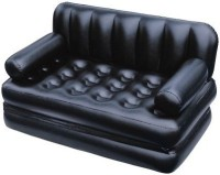 View Amazing Health & Fitness PVC 3 Seater Inflatable Sofa(Color - Amazing Black) Price Online(Amazing Health & Fitness)
