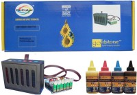Gocolor Continuous Tank Supply System 85N for Epson 1390,T60 etc & Sublimation Ink 6 Color Multi Color Ink(Black, Magenta, Cyan, Yellow)