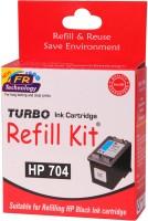 Turbo Ink Refill Kit for HP 704 Cartridge Single Color Ink(Black)