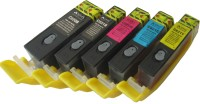 VMS 820 821 For Canon Refillable Ink Cartridge(5 pcs) Set Prefilled Multi Color Ink(Black, Magenta, Cyan, Yellow)