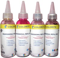 Colorite Brother 100ml x 4 colours Multi Color Ink(Black, Magenta, Cyan, Yellow)