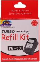 Turbo Ink Refill Kit For Canon Pg 830 Cartridge Single Color Ink(Black)