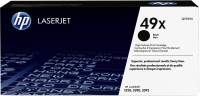 HP 49X Black High Yield Original LaserJet Single Color Toner(Black)