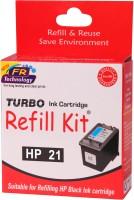 Turbo Ink Refill Kit for HP 21 cartridge Single Color Ink(Black)