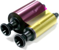 Evolis Ribbon - YMCKO - 300 prints Multi Color Ink(Yellow, Magenta)
