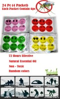 SENECIO??? 'S 24Pcs Smile Mosquito Repellent Patch Sticker Natural Essential Oil mat(24 x 1)
