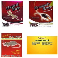 MIKADO Lizard Rep,Croach Rep,Rat Rep, Pulses Saver Combo(4 x 55.25 g)