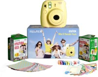 Fujifilm Instax Mini 8 - Bundle Pack Instant Camera(Yellow)