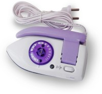 TRP TRADERS mini travel sleek Dry Iron(white and purple)