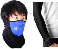 #° DEGREES Black, Blue Bike Face Mask for Men & Women(Size: Free,  Balaclava)