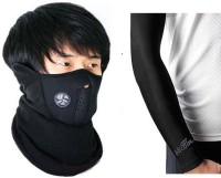 #° DEGREES Black Bike Face Mask for Men & Women(Size: Free,  Balaclava)