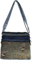 Brazeal studio Women Multicolor Denim Sling Bag
