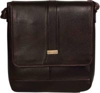 Scharf Messenger Bag(Brown, 12 inch)