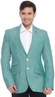Raymond Solid Mandarin Formal Men's Blazer(Green)