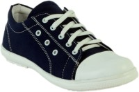 Shoe Island Trending Navy Blue Canvas Shoes(Navy)