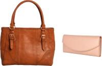 Lychee Bags Women Brown, Pink PU Tote