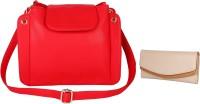 Lychee Bags Women Red, Beige PU Sling Bag