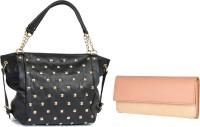 Lychee Bags Women Black, Pink PU Satchel