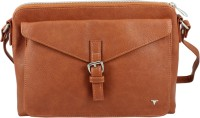 Bulchee Women Tan Leatherette Sling Bag