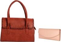 Lychee Bags Women Brown, Pink PU Satchel