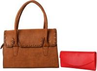 Lychee Bags Women Brown, Red PU Satchel