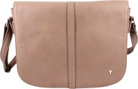 Bulchee Women Beige Leatherette Sling Bag