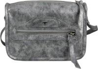 Bulchee Women Silver Leatherette Sling Bag