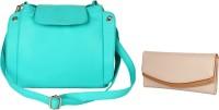 Lychee Bags Women Green, Beige PU Sling Bag